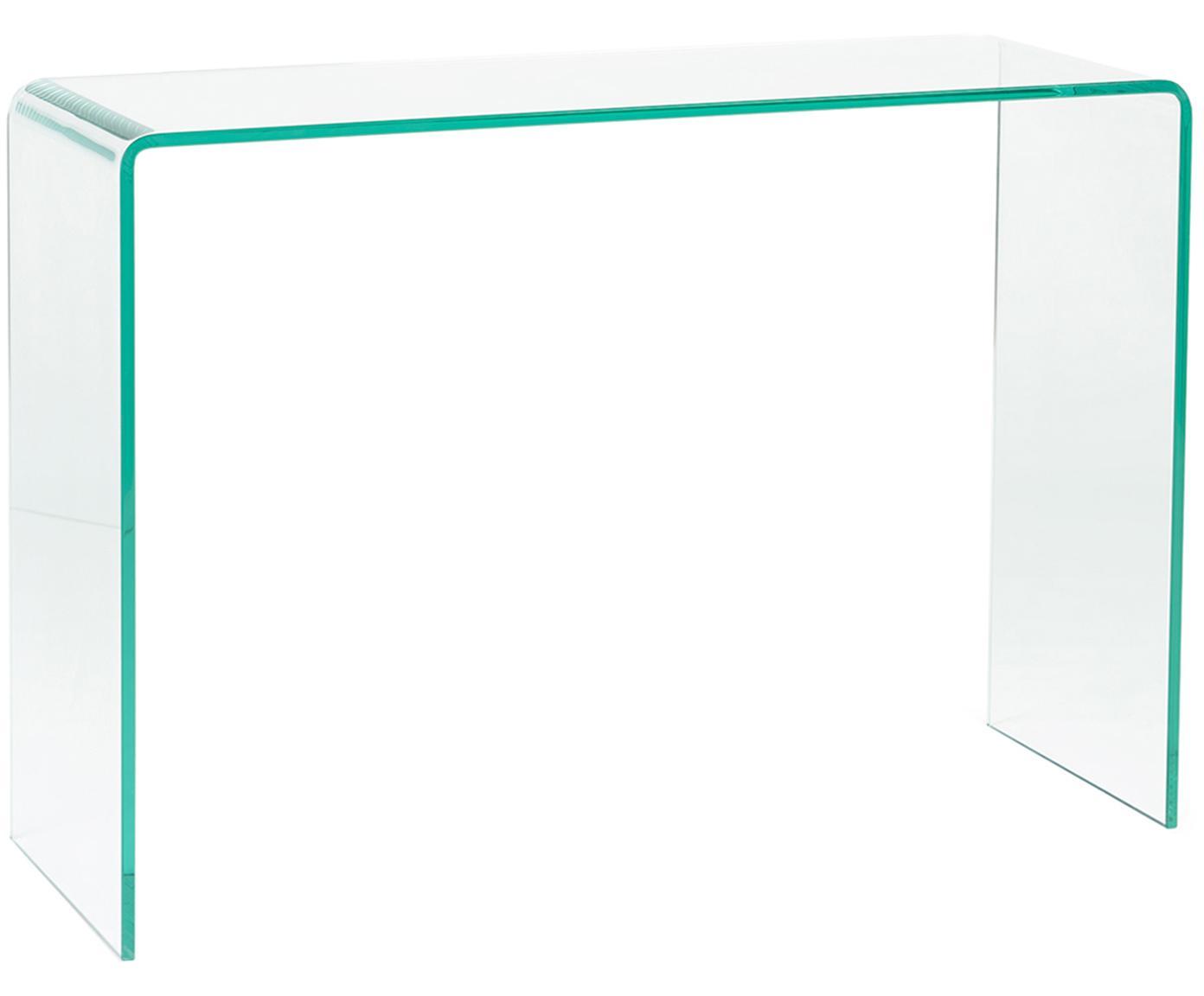 Consola Line, Vidrio templado, Transparente, An 90 x Al 67 cm