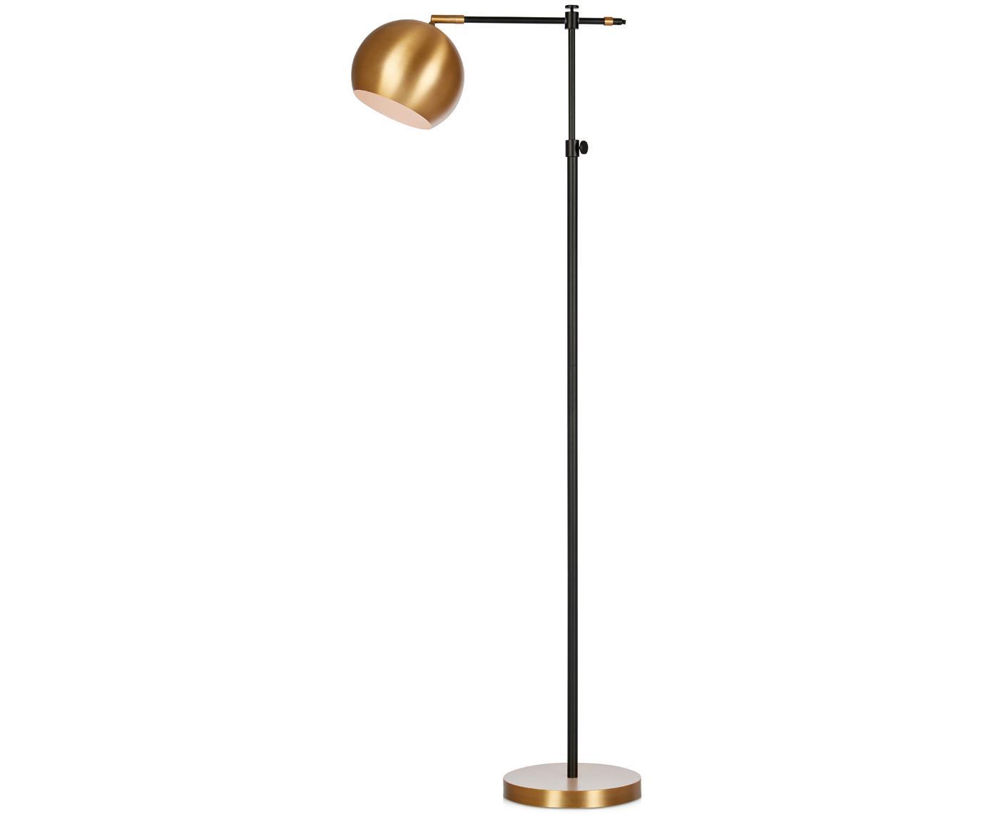 Lampada da terra Chester, Ottone verniciato, Marrone, nero, Larg. 25 x Alt. 135 cm