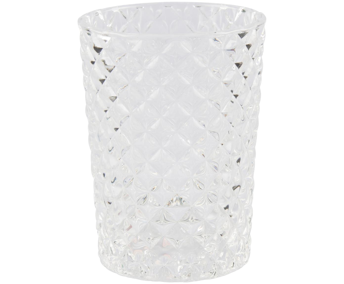 Glas-Zahnputzbecher Diamante, Glas, Transparent, Ø 7 x H 10 cm