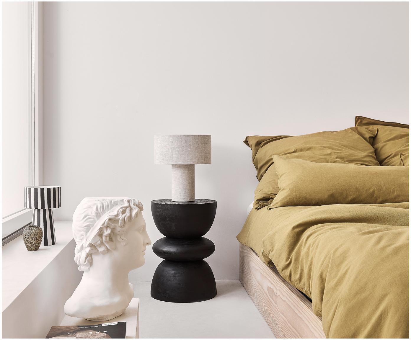 Lampa stołowa Ron, Klosz: szary Podstawa lampy: szary Kabel: biały, Ø 30 x W 35 cm