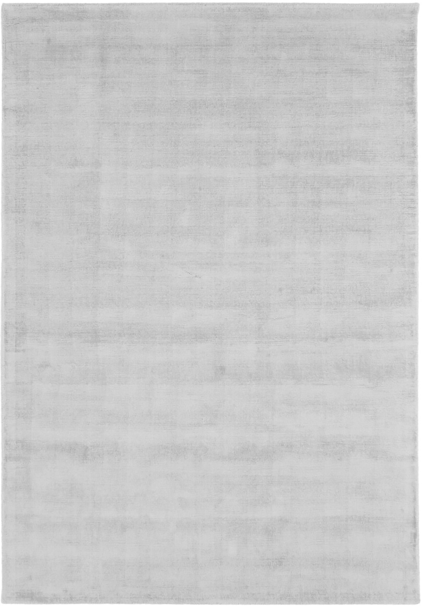 Handgewebter Viskoseteppich Jane in Silbergrau, Flor: 100% Viskose, Silbergrau, B 160 x L 230 cm (Grösse M)