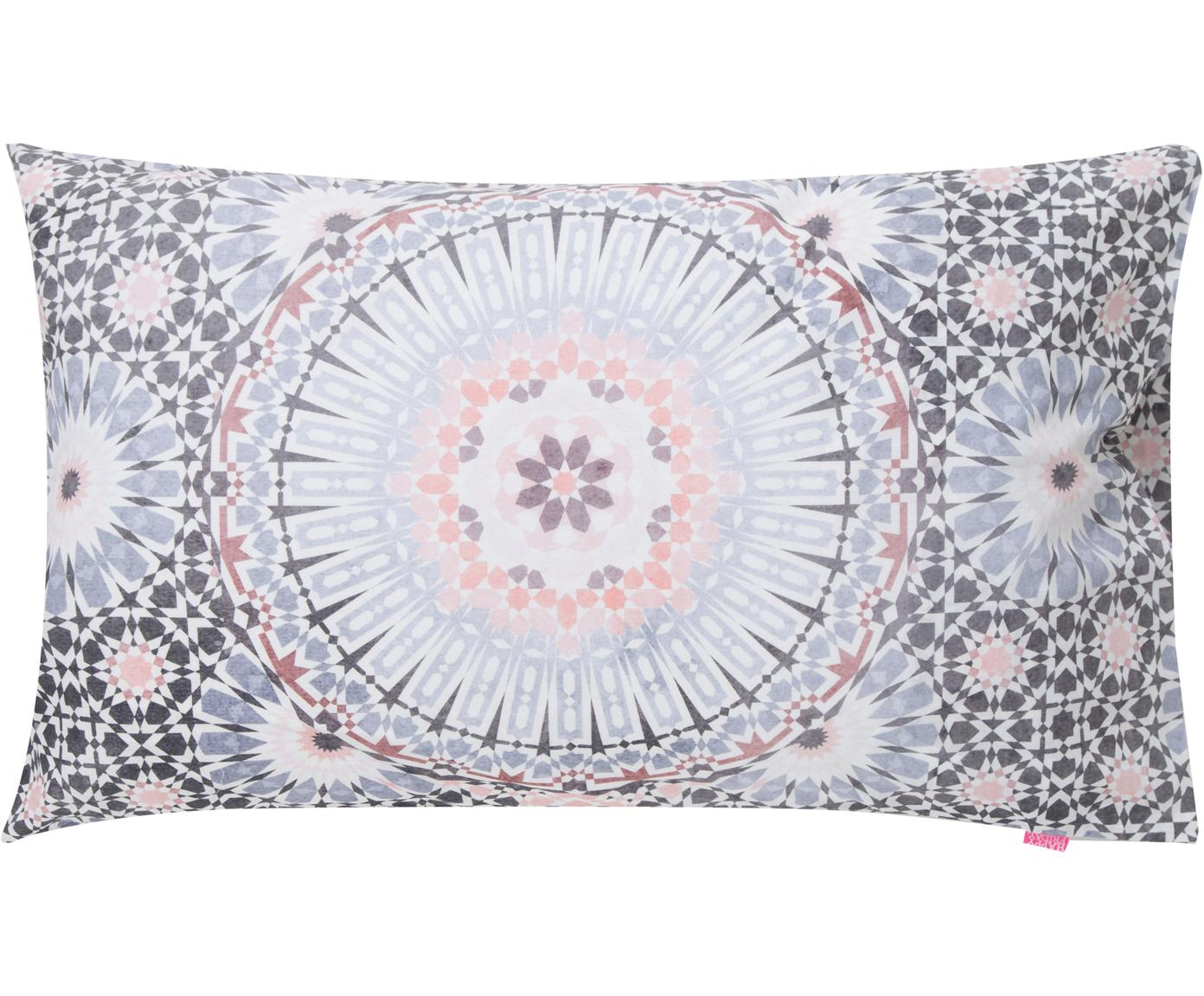 Fundas de almohada Bohemia, 2uds., Algodón, Blanco, tonos azules y rosas, An 50 x L 75 cm