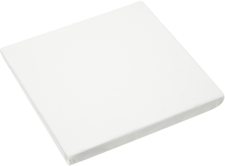 Boxspring-Spannbettlaken Lara, Jersey-Elasthan, 95% Baumwolle, 5% Elasthan, Cremefarben, 90 x 200 cm