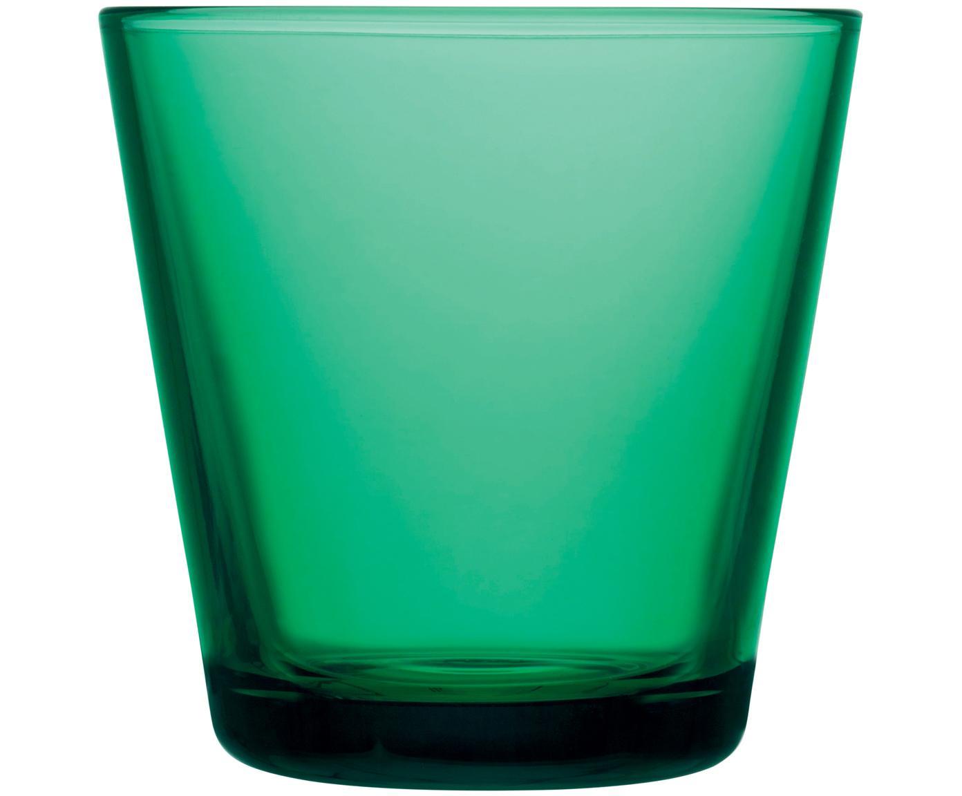 Vasos Kartio, 2uds., Vidrio, Verde esmeralda, Ø 8 x Al 8 cm