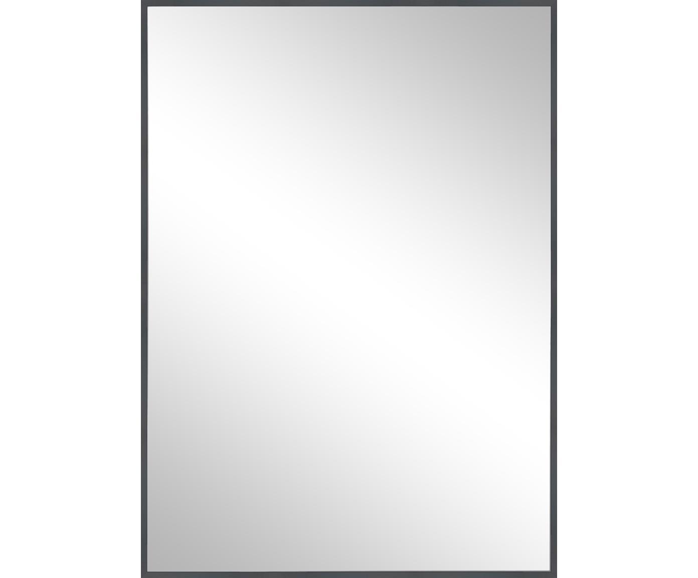 Espejo de pared cuadrado Alpha, Espejo: cristal, Gris, An 50 x Al 70 cm