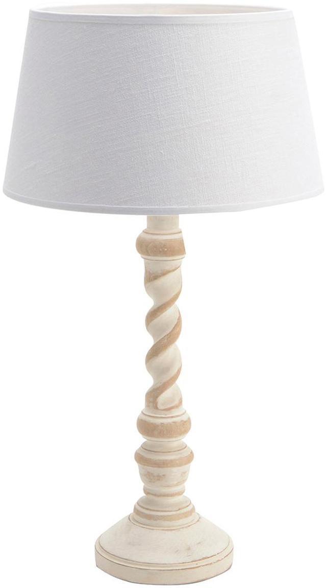 Lámpara de mesa Charlotte, Madera de mango, Beige, An 25 x Al 49 cm