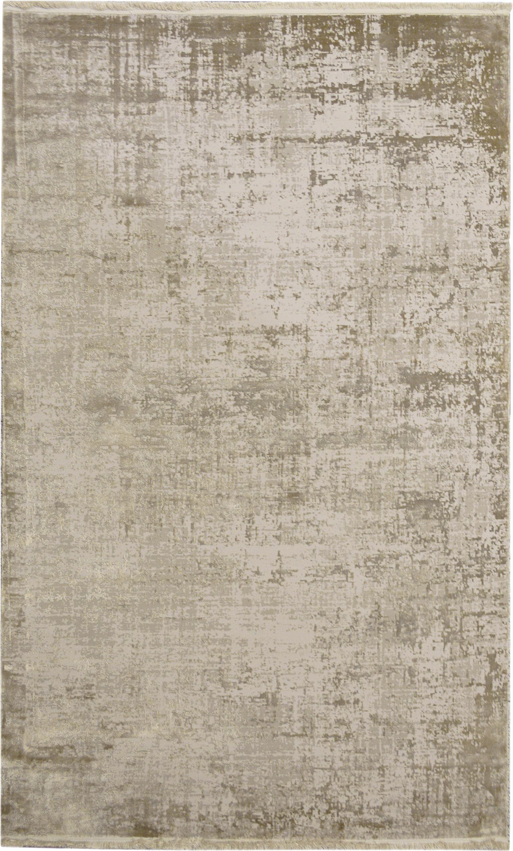 Schimmernder Teppich Cordoba mit Fransen, Vintage Style, Flor: 70% Acryl, 30% Viskose, Beigetöne, B 130 x L 190 cm (Größe S)
