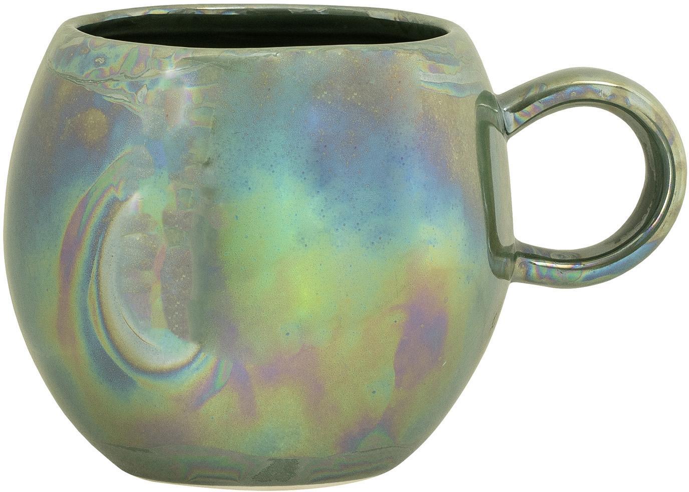 Tazza Pino, Ceramica, Verde, Ø 9 x Alt. 8 cm