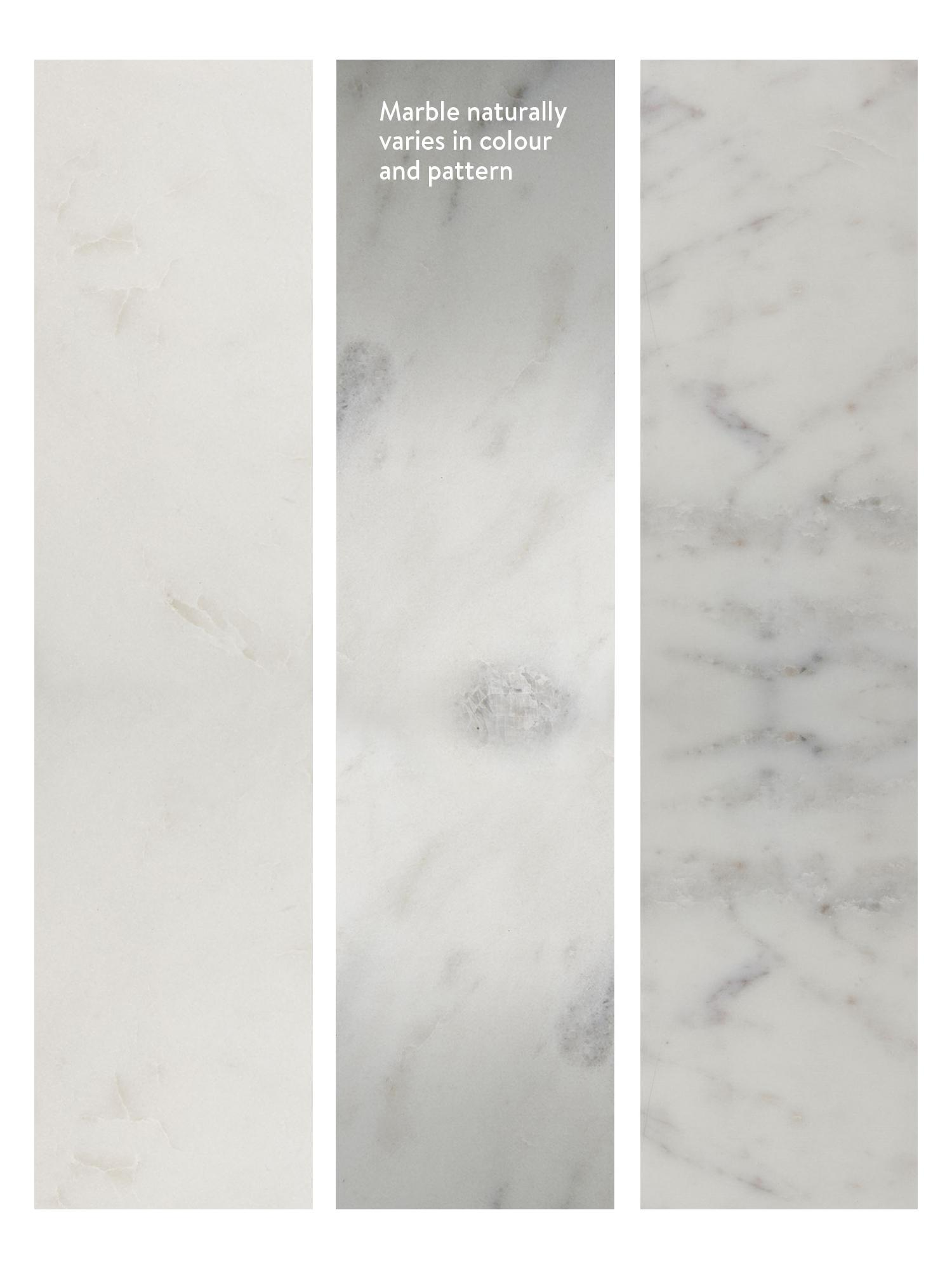 Marmor-Couchtisch Alys, Tischplatte: Marmor, Gestell: Metall, beschichtet, Weisser Marmor, Goldfarben, 120 x 35 cm
