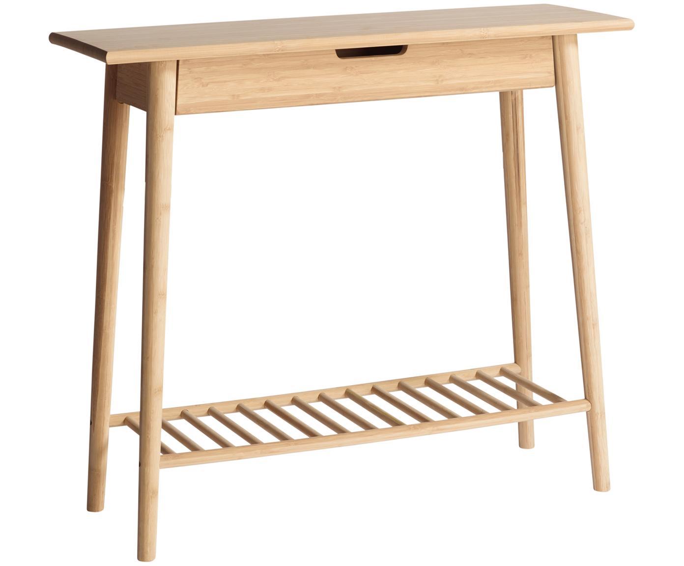 Consolle in bambù Noble, Bambù levigato e oliato, Bambù, Larg. 90 x Alt. 80 cm