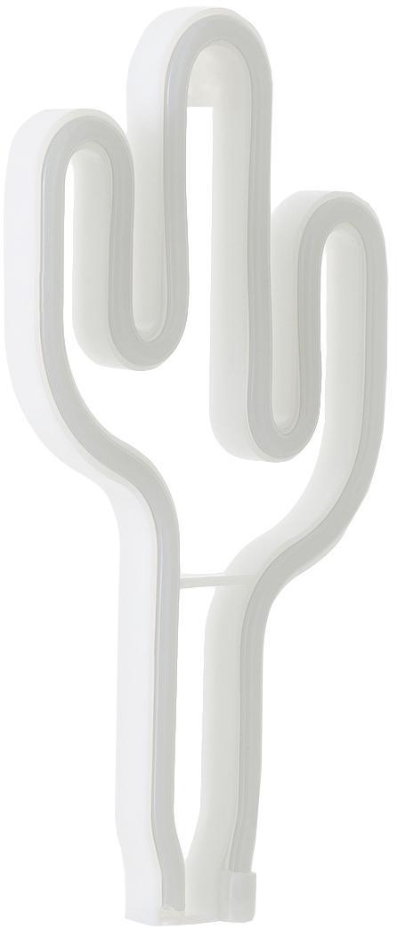 Lámpara neón LED Cactus, Lámpara: plástico, Verde, An 14 x Al 27 cm