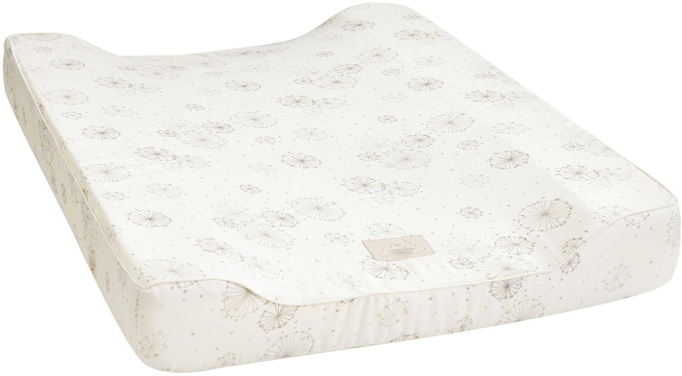 Colchón cambiador Dandelion, Exterior: algodón organico, Crema, beige, An 50 x L 65 cm