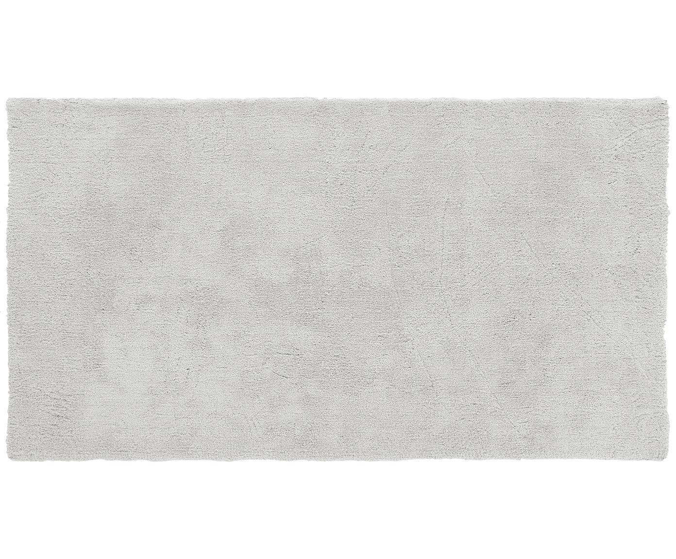 Alfombra de pelo largo Leighton, Parte superior: 100%poliéster (microfibr, Reverso: 100%poliéster, Gris claro, An 80 x L 150 cm (Tamaño XS)