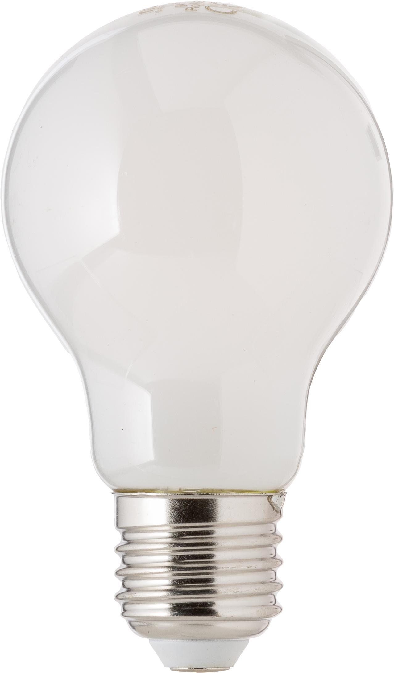 Dimbare LED lamp Bafa (E27 / 8W) 3 stuks, Peertje: kunststof, Fitting: aluminium, Wit, Ø 8 x H 10 cm