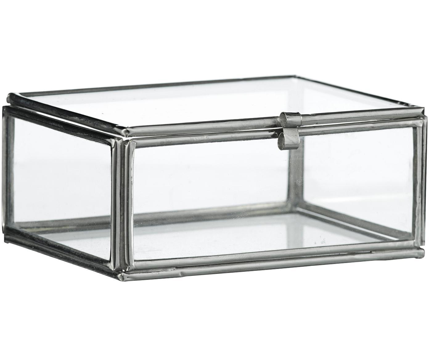 Aufbewahrungsbox Ivey, Rahmen: Metall, beschichtet, Edelstahl, 9 x 4 cm