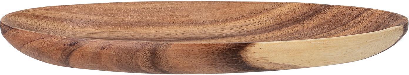 Asymetryczna taca z drewna akacjowego Cata, Drewno akacjowe, olejowane, Brązowy, S 30 x G 18 cm