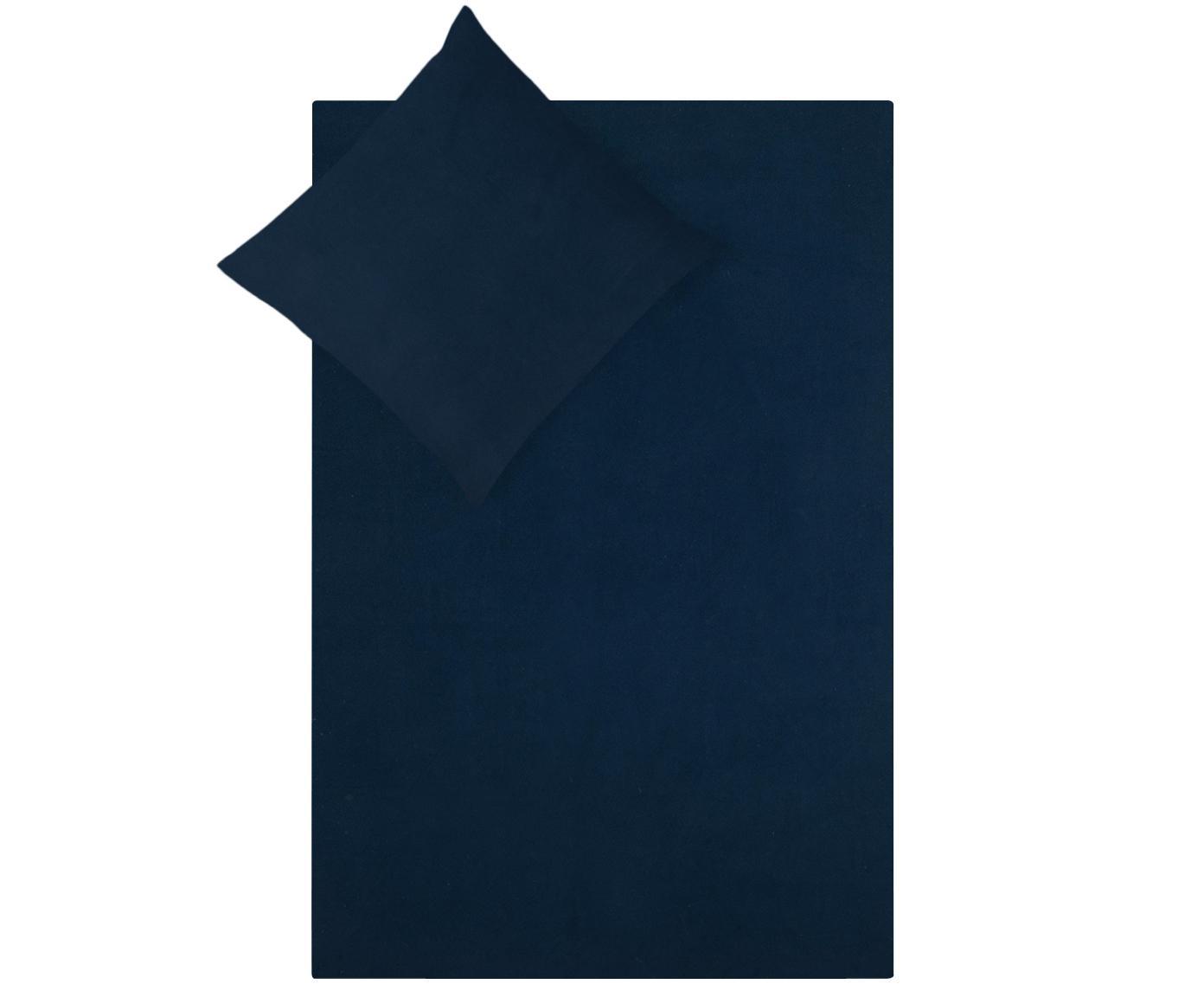 Pościel z flaneli Biba, Granatowy, 135 x 200 cm