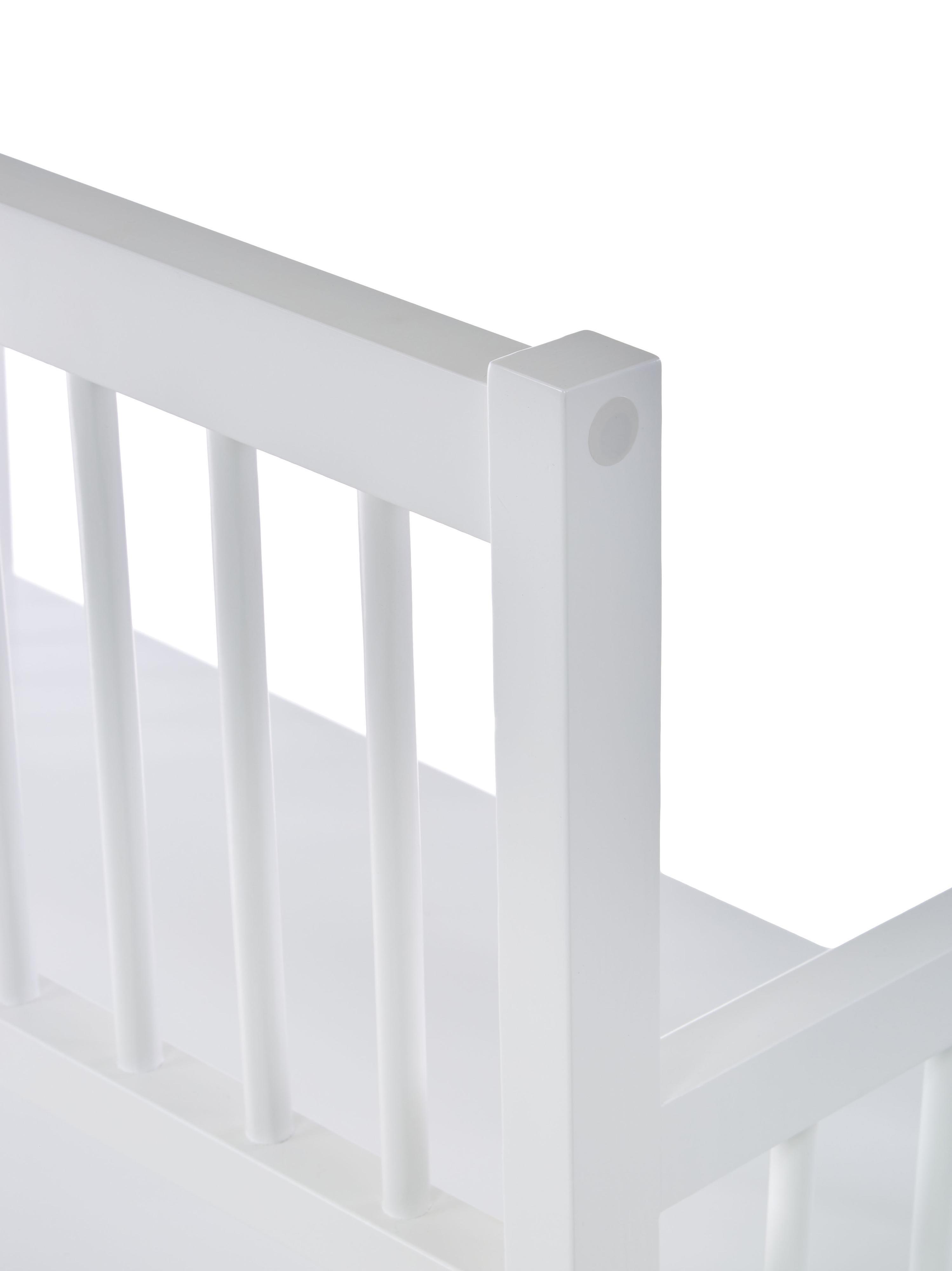 Sitzbank Emma mit Stauraum, Bezug: Polyester, Gestell: Mitteldichte Holzfaserpla, Weiss, 90 x 85 cm