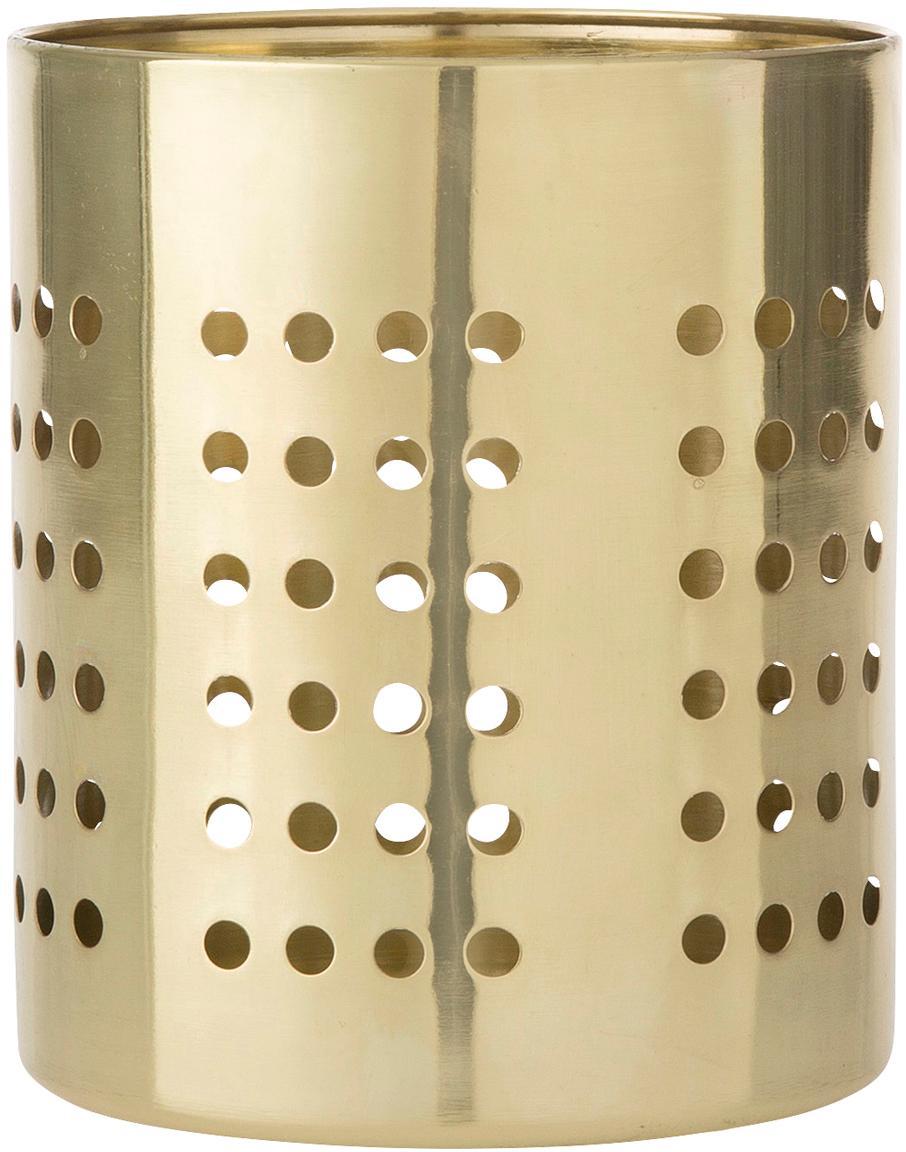 Bestekhouder Juno goudkleurig, Edelstaal, Messingkleurig, Ø 11 x H 14 cm