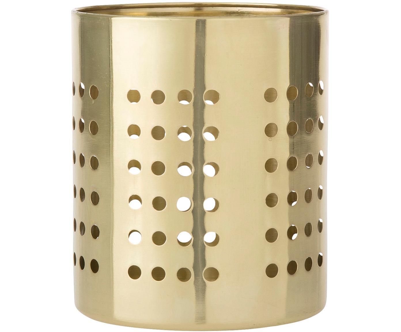 Porta utensilios Juno, Acero inoxidable, Latón, Ø 11 x Al 14 cm