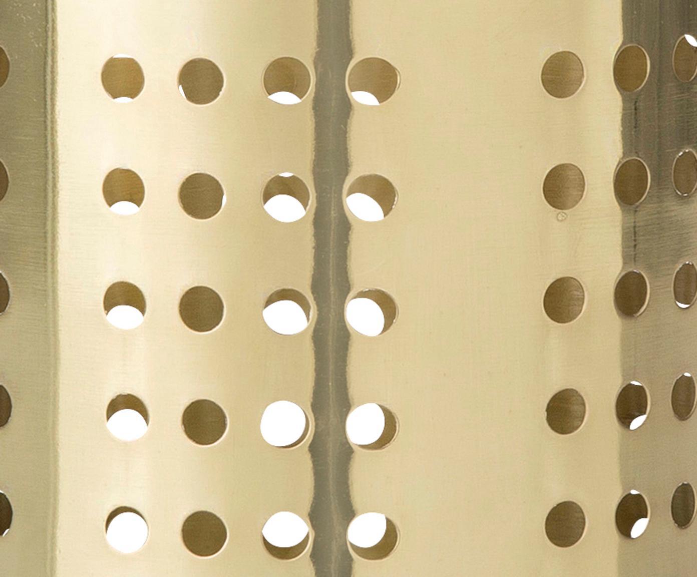 Uchwyt na sztućce Juno, Stal nierdzewna, Odcienie mosiądzu, Ø 11 x W 14 cm