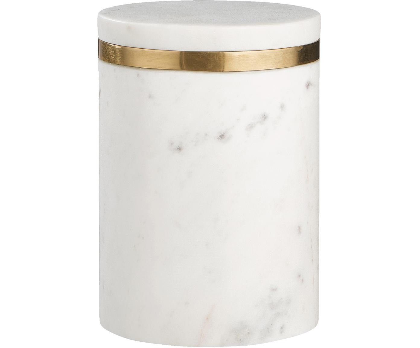 Bote de mármol Maniu, Mármol, Blanco, Ø 12 x Al 16 cm