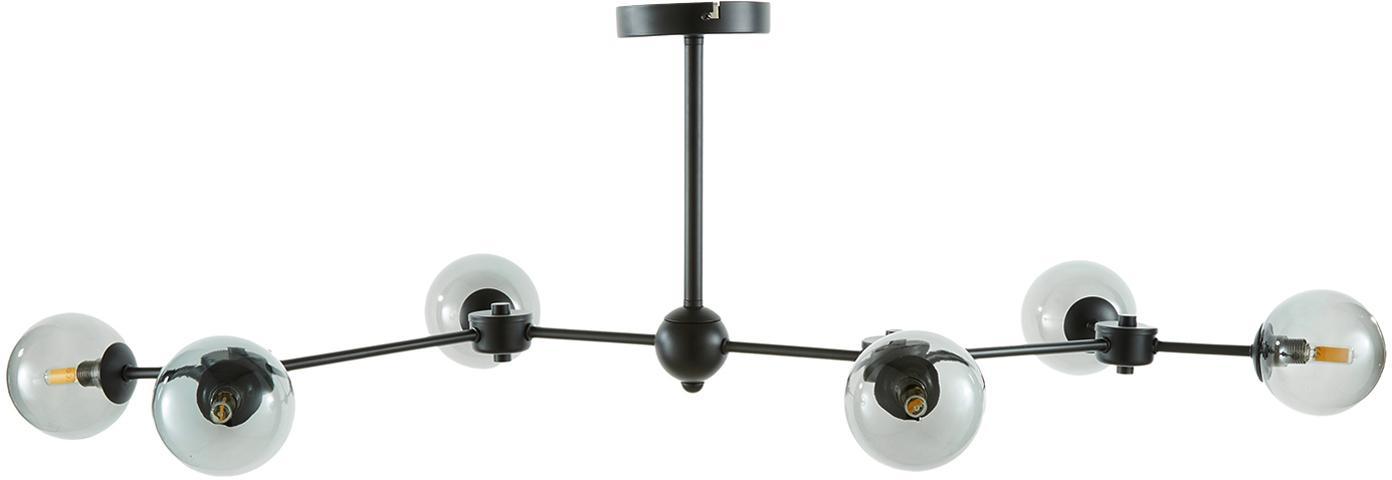 Lampa sufitowa XL Aurelia, Czarny, szary, Ø 110 x W 32 cm
