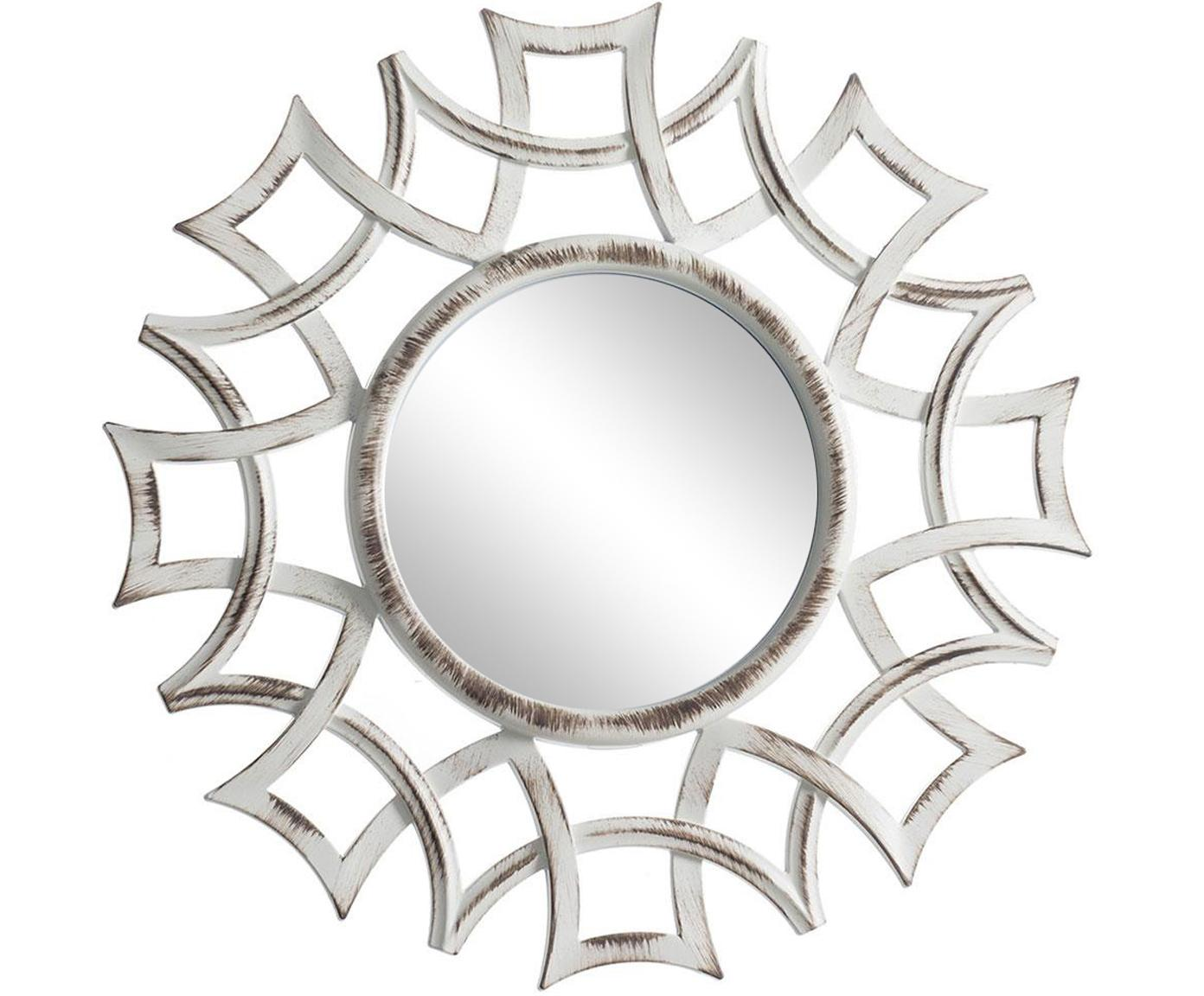 Espejo de pared Brunos World, 3uds., Plástico, espejo de cristal, Blanco, Ø 25 cm