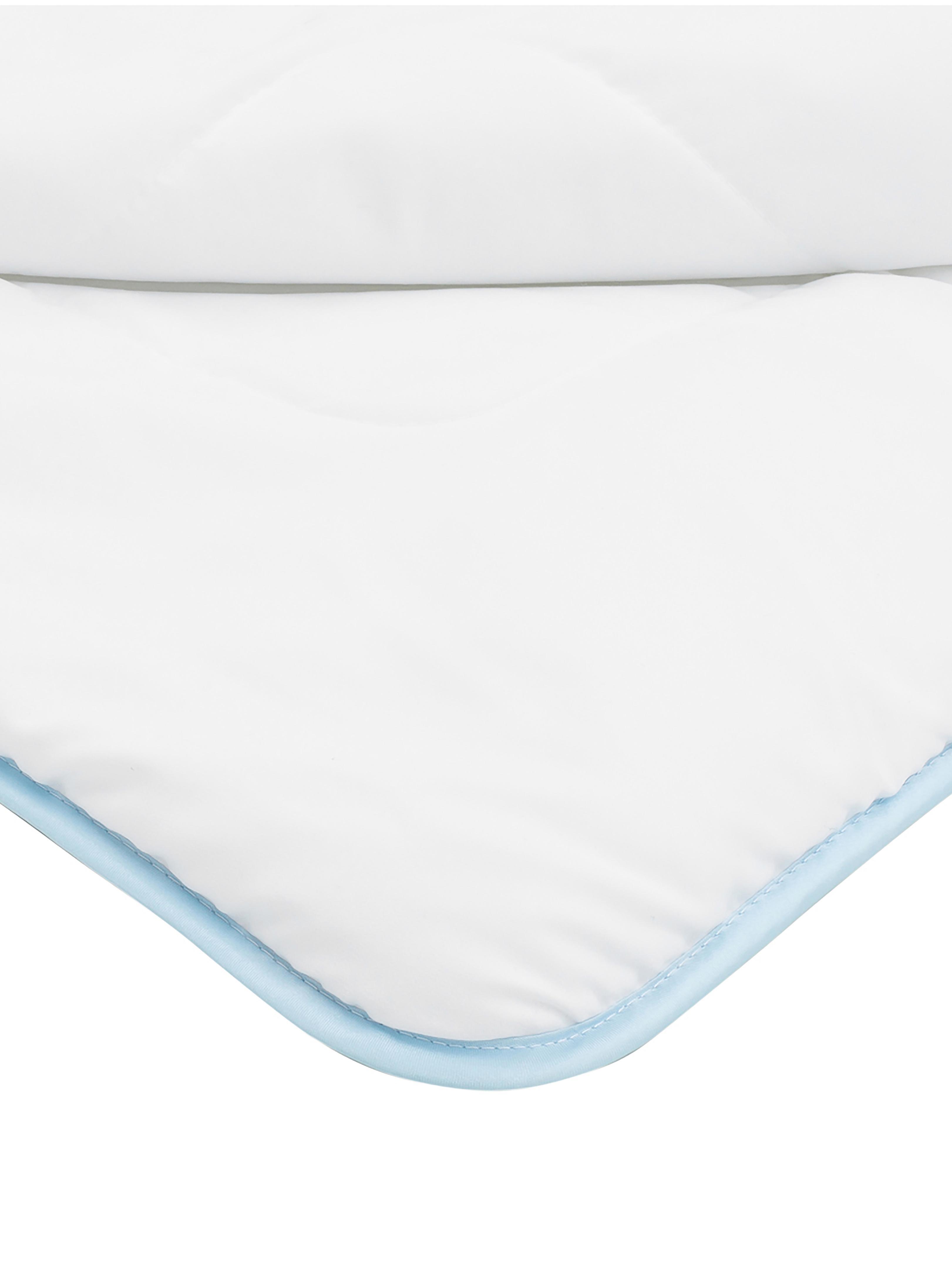 Microfaser-Bettdecke, mittel, Bezug: Microfaser mit Rautenstep, Weiß, 135 x 200 cm