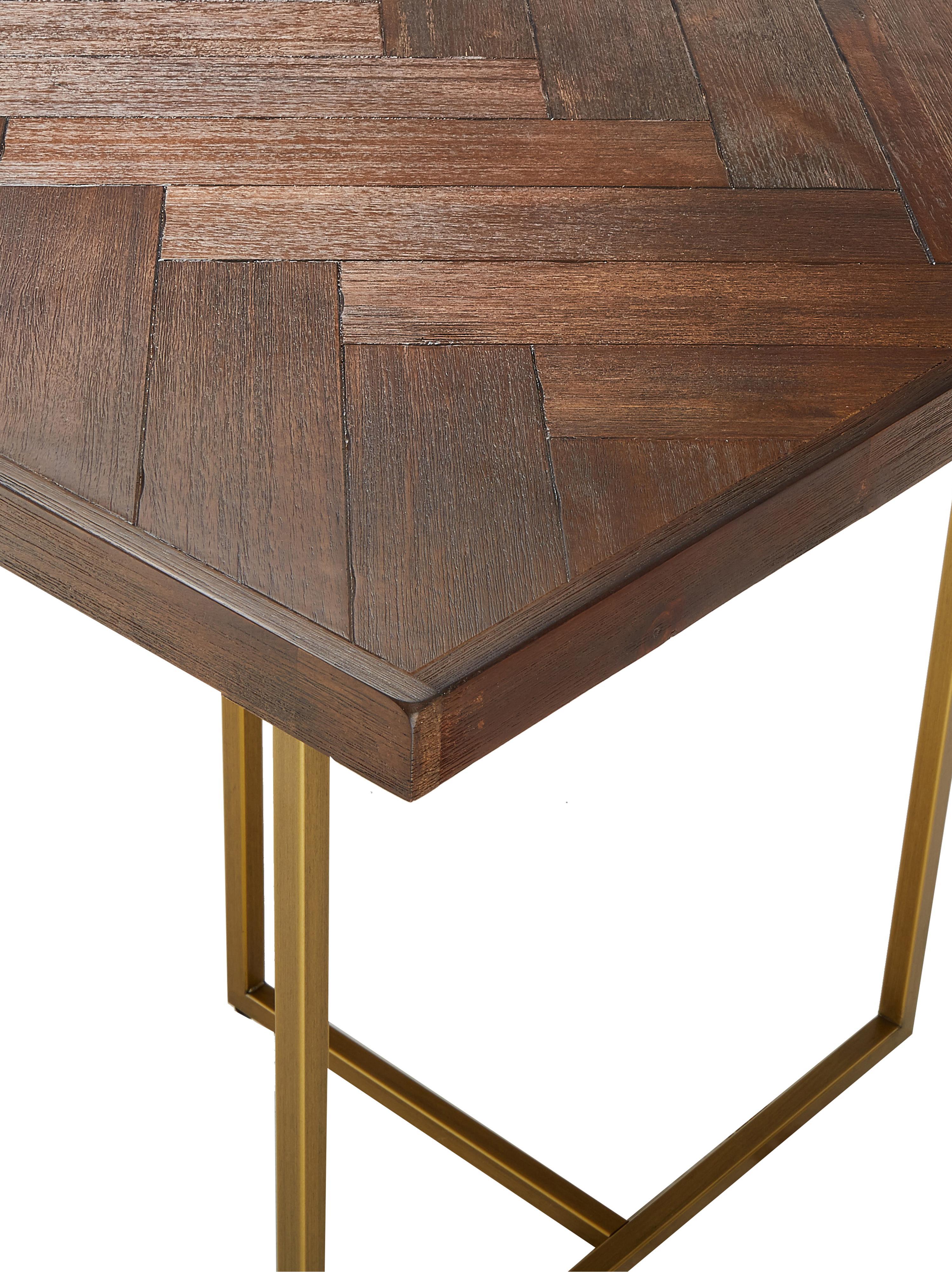 Table art déco acacia Class, Brun