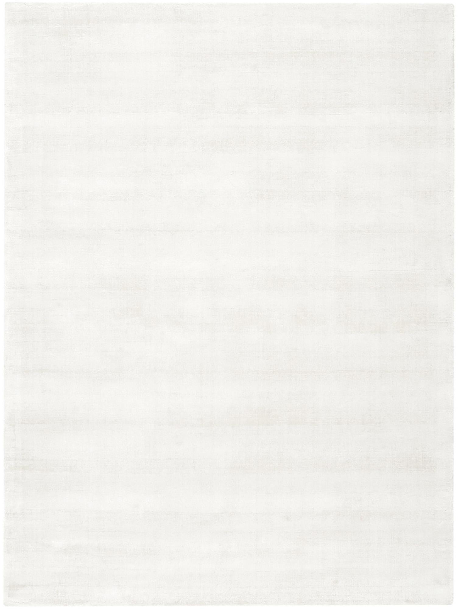 Handgewebter Viskoseteppich Jane in Elfenbeinfarben, Flor: 100% Viskose, Elfenbeinfarben, B 300 x L 400 cm (Größe XL)