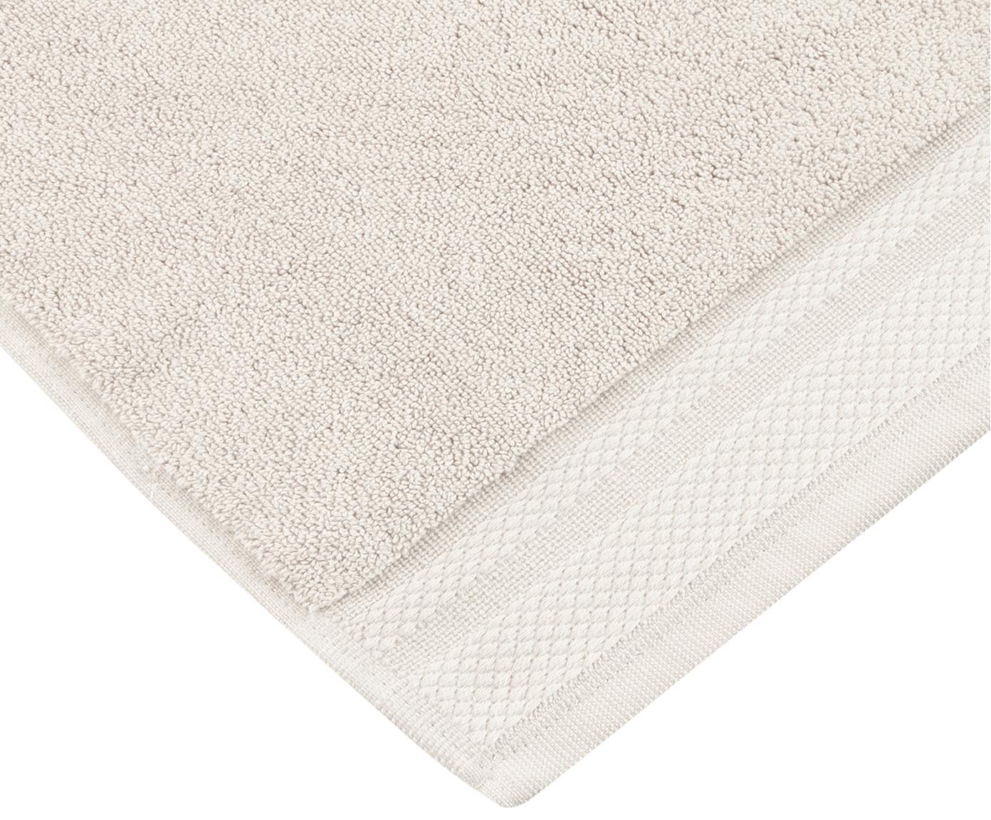 Handtuch Premium in verschiedenen Größen, mit klassischer Zierbordüre, Beige, XS Gästehandtuch