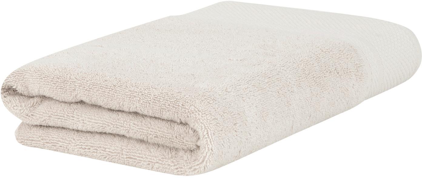 Toalla con cenefa clásica Premium, 100%algodón Gramaje superior 600g/m², Beige, Toallas de manos