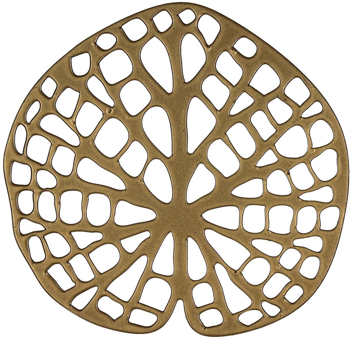 Untersetzer Orient, 6 Stück, Metall, beschichtet, Messingfarben, B 12 x T 11 cm