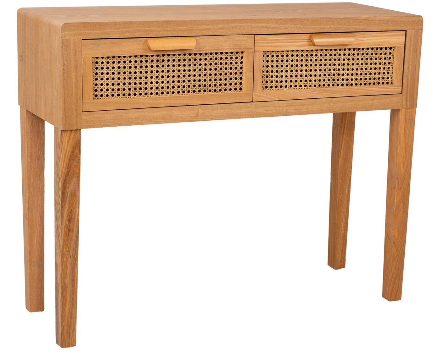 Consola Nina, Estructura: madera de abeto, madera c, Tonos marrones, An 100 x Al 80 cm