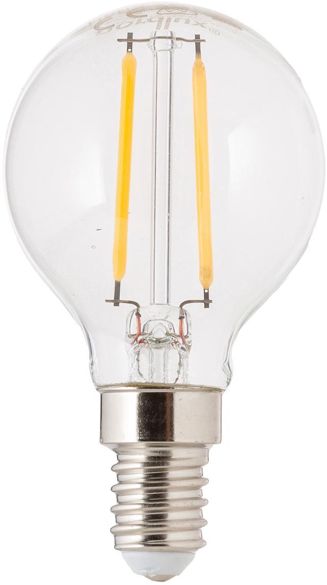 LED peertje Yekon (E14/2.5W), Peertje: glas, Fitting: aluminium, Transparant, Ø 5 x H 8 cm