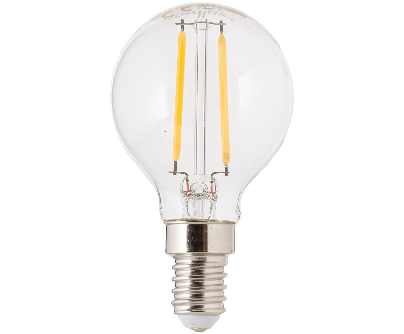 Bombilla LED Yekon (E14/2,5W), Ampolla: vidrio, Casquillo: aluminio, Transparente, Ø 5 x Al 8 cm