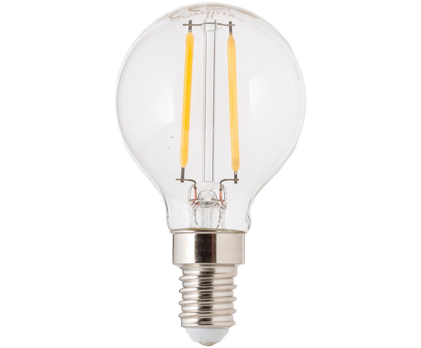LED lamp Yekon (E14 / 2,5W), Peertje: glas, Fitting: aluminium, Transparant, Ø 5 x H 8 cm