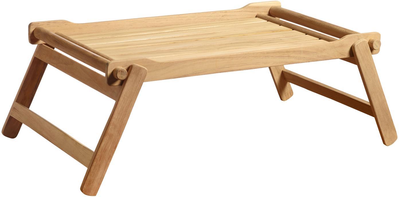 Vassoio in legno Bed, Legno di teak, sabbiato Possiede certificato V-legal, Colore teak, Larg. 58 x Prof. 36 cm