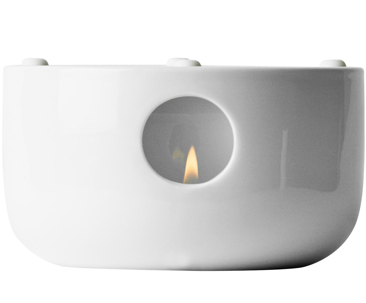 Stövchen Kettle, Porzellan, Silikon, Transparent,Weiß, Ø 14 x H 7 cm