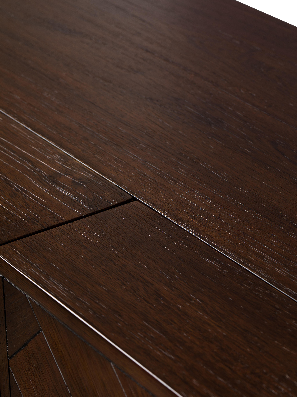 Credenza alta con finitura in acacia Class, Legno d'acacia, ottonato, Larg. 100 x Alt. 100 cm