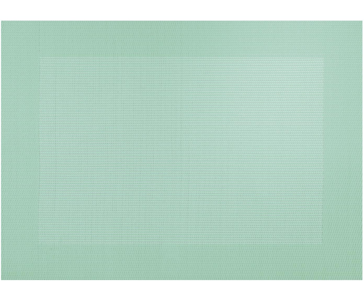 Kunststoffen placemats Trefl, 2 stuks, Kunststof (PVC) van kunstleer, Mintgroen, 33 x 46 cm