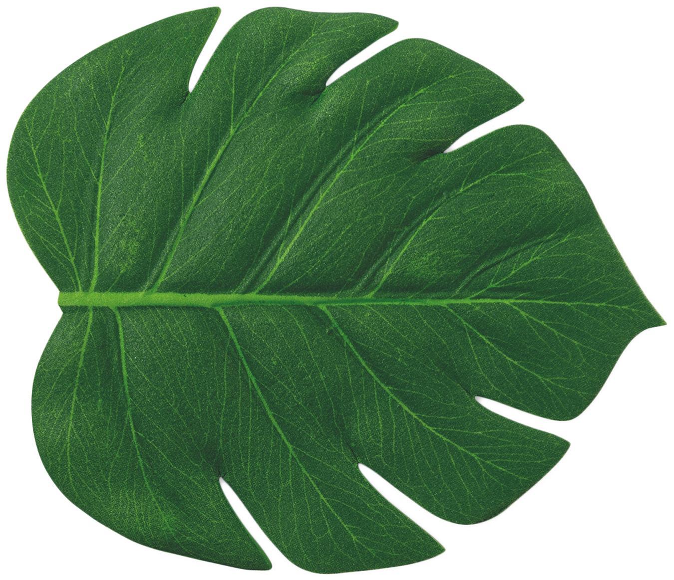 Sottobicchiere Jungle 6 pz, Materiale sintetico, Verde, Larg. 12 x Lung. 14 cm