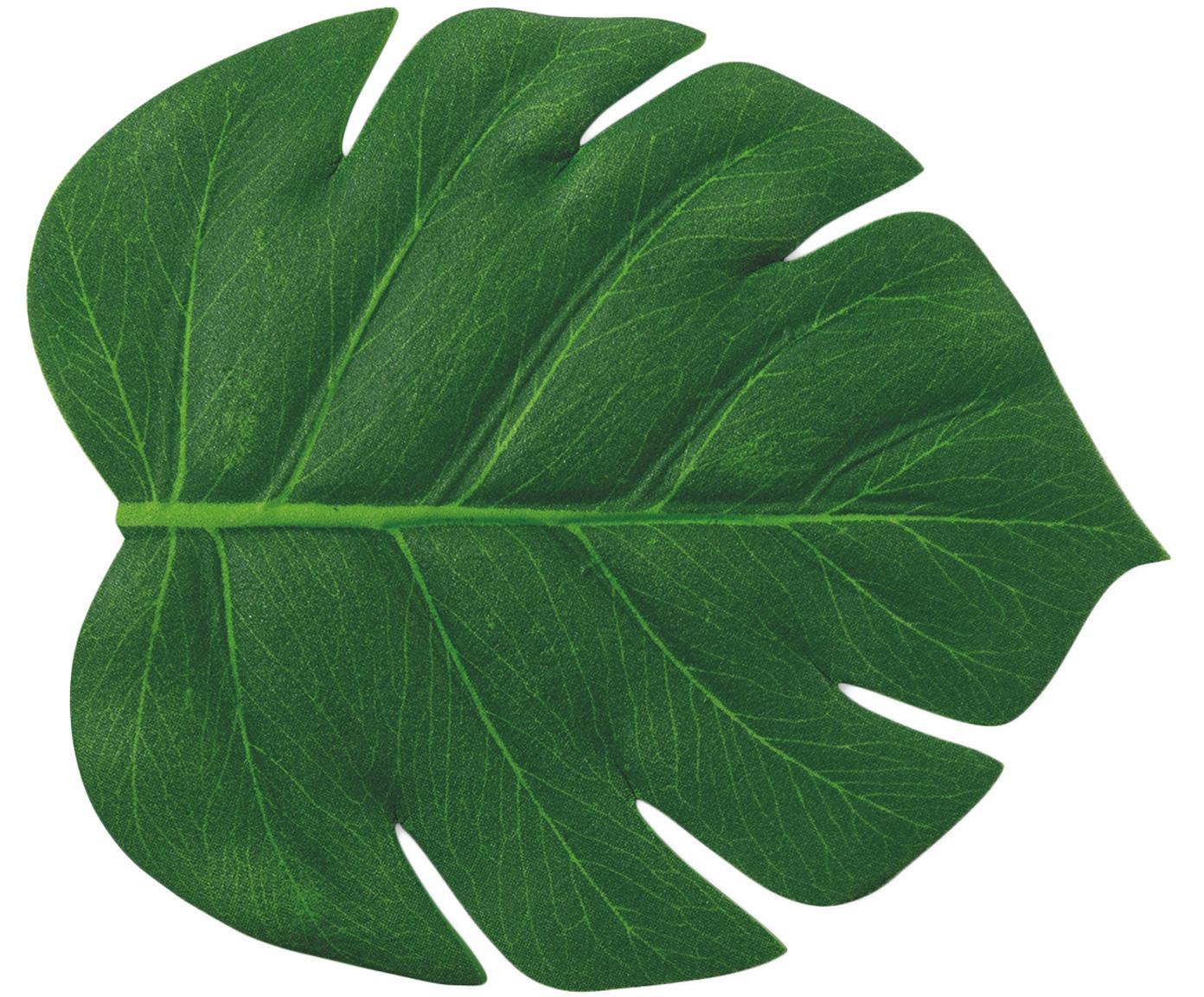 Kunststoff Untersetzer Jungle in Blattform, 6 Stück, Kunststoff, Grün, 12 x 14 cm