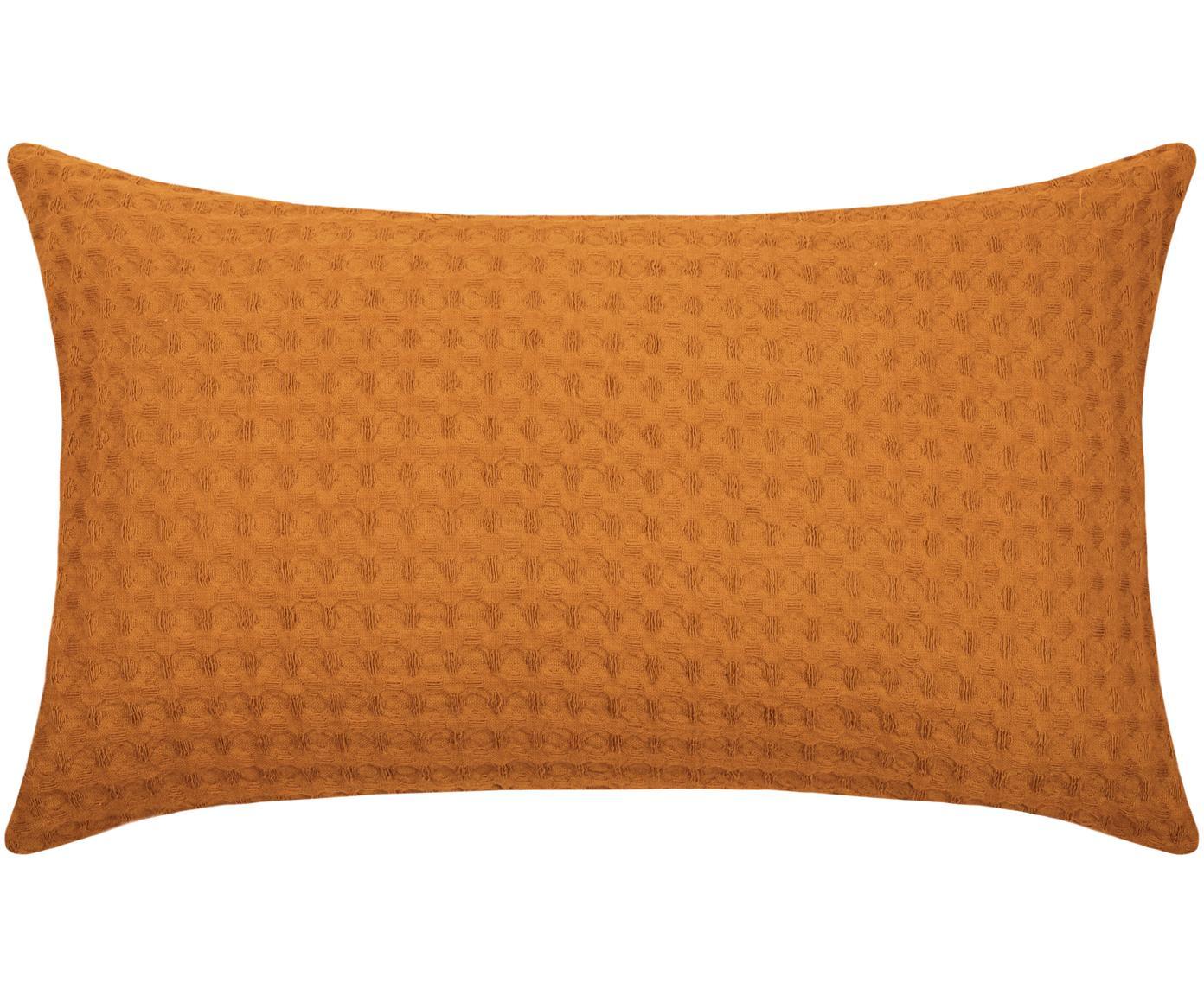 Cuscino a nido d'ape con imbottitura Gopher, Rivestimento: cotone, Giallo senape, Larg. 30 x Lung. 50 cm