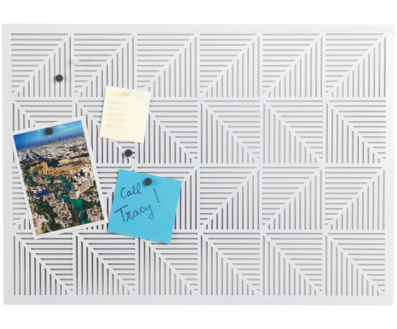Bacheca da parete Trigon, Metallo, gommapiuma, Bianco, L 53 x A 38 cm