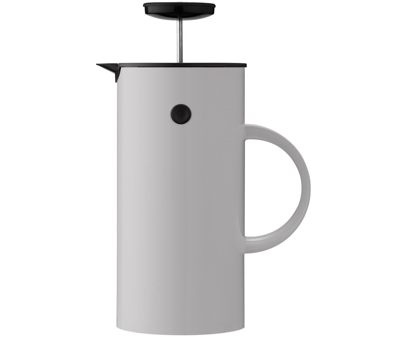 Teiera in grigio lucido EM, Esterno: acciaio inossidabile, riv, Interno: materiale sintetico ABS, Grigio chiaro, 1 l