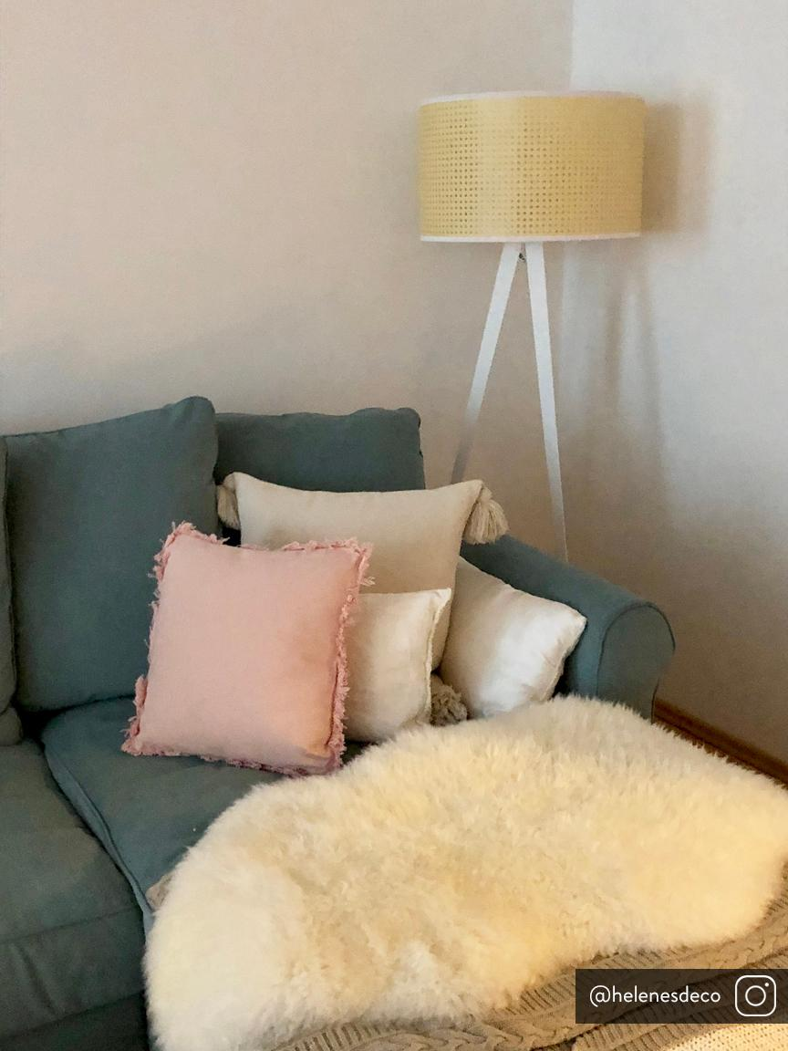 Kissen Prague mit Fransenabschluss, mit Inlett, Vorderseite: 100% Baumwolle, grob gewe, Rückseite: 100% Baumwolle, Rosa, 40 x 40 cm