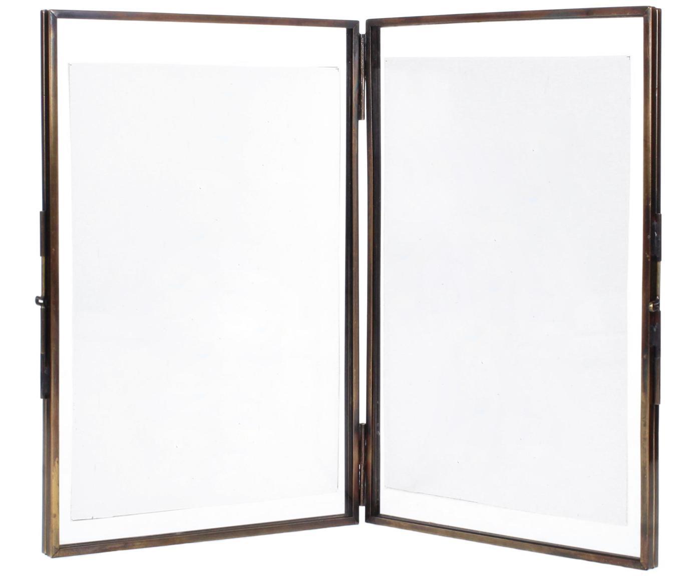Bilderrahmen Collector Two, Rahmen: Messing, beschichtet, Front: Glas, Bronzefarben, 10 x 15 cm