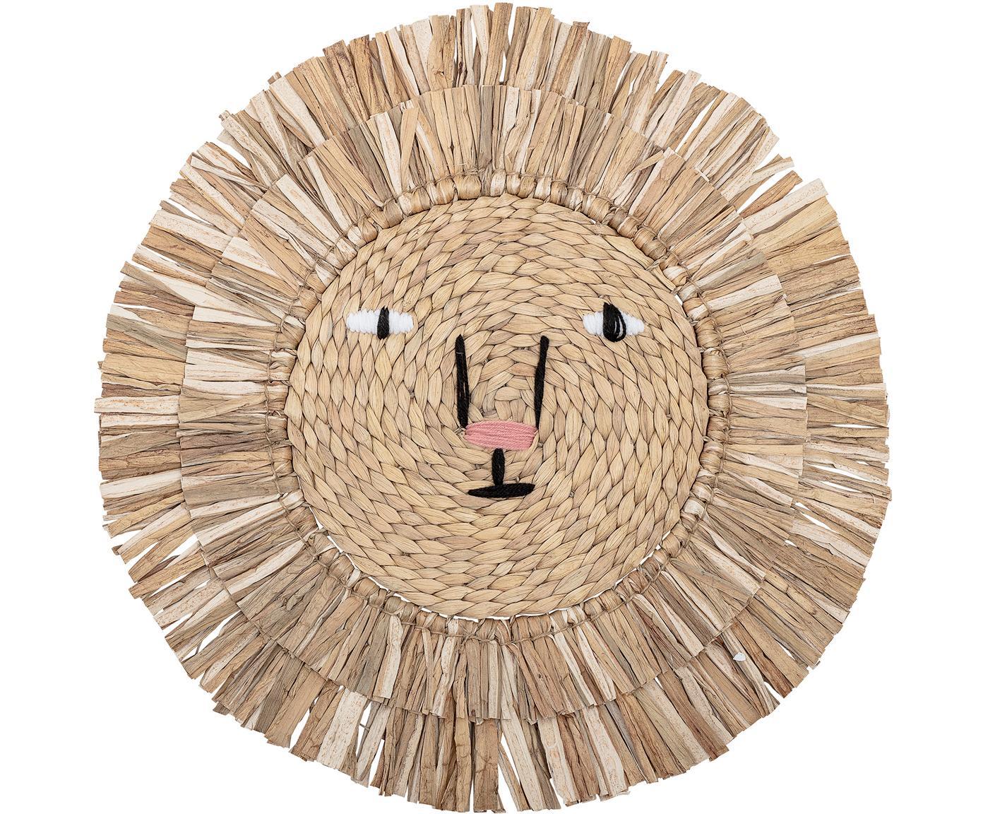 Wandobjekt Sunny, Wasserhyazinthe, Beige, Ø 63 cm